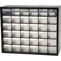 Lokerolaatikosto, nro PC 36, koko 33x40,7x14,1 cm, 1 set