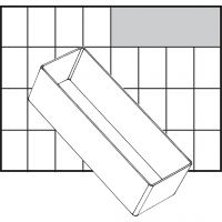 Säilytyslokero, nro A8-2, Kork. 47 mm, koko 157x55 mm, 1 kpl