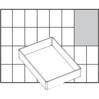 Säilytyslokero, nro A71 Low, Kork. 24 mm, koko 109x79 mm, 1 kpl