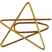 Liittimet, tähti, koko 30x30 mm, kulta, 6 kpl/ 1 pkk