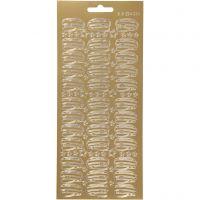 Ääriviivatarra, Ylioppilaslakki, 10x23 cm, kulta, 1 ark