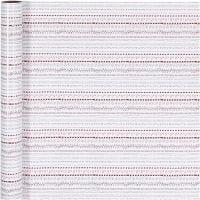 Lahjapaperi, doodle, Lev: 70 cm, 80 g, punainen, valkoinen, 4 m/ 1 rll