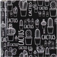 Lahjapaperi, kaktus, Lev: 50 cm, 80 g, 5 m/ 1 rll