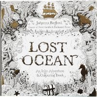Aikuisten värityskirja, Lost Ocean, koko 25x25 cm, 80 , 1 kpl