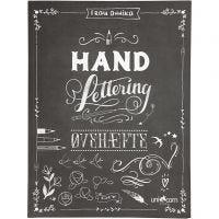 Hand Lettering -harjoituksia, koko 21x28 cm, paksuus 1 cm, 63 , 1 kpl