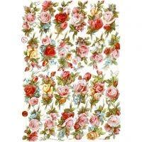 Kiiltokuvat, ruusukimput, 16,5x23,5 cm, 3 ark/ 1 pkk