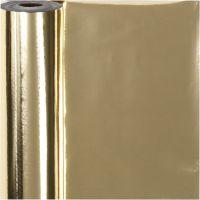 Lahjapaperi, Lev: 50 cm, 65 g, kulta, 100 m/ 1 rll