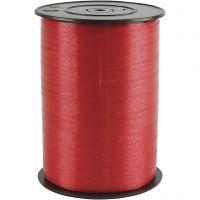 Lahjanauha, Lev: 10 mm, kiiltävä, punainen, 250 m/ 1 rll