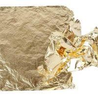 Lehtimetallijäljitelmä, 16x16 cm, kulta, 25 ark/ 1 pkk, 0,625 m2