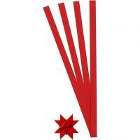 Paperisuikaleet, Pit. 45 cm, halk. 4,5 cm, Lev: 10 mm, punainen, 100 suikaleet/ 1 pkk