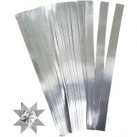 Paperisuikaleet, Pit. 45 cm, halk. 6,5 cm, Lev: 15 mm, hopea, 100 suikaleet/ 1 pkk