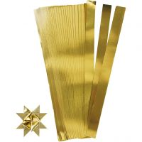 Paperisuikaleet, Pit. 45 cm, halk. 6,5 cm, Lev: 15 mm, kulta, 100 suikaleet/ 1 pkk
