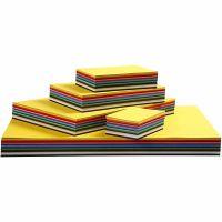 Värillinen kartonki, A3,A4,A5,A6, 180 g, värilajitelma, 1500 laj/ 1 pkk