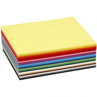 Värillinen kartonki, A6, 105x148 mm, 180 g, värilajitelma, 300 laj/ 1 pkk