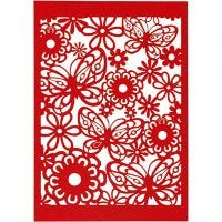 Pitsikartonki, 10,5x15 cm, 200 g, punainen, 10 kpl/ 1 pkk