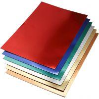 Metallikartonki, A2, 420x600 mm, 280 g, värilajitelma, 30 laj/ 1 pkk