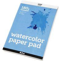 Akvarellilehtiö, A5, 148x210 mm, 180 g, valkoinen, 20 ark/ 1 kpl