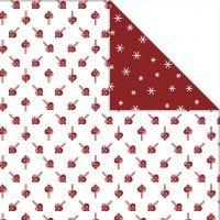Kuviopaperi , sydämet ja jääkiteet, 30,5x30,5 cm, 180 g, 3 ark/ 1 pkk