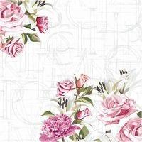 Servietit, ruusut, koko 33x33 cm, 20 kpl/ 1 pkk