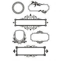 Kirkkaat leimasimet, Kehykset ornamenteilla, 11x15,5 cm, 1 ark