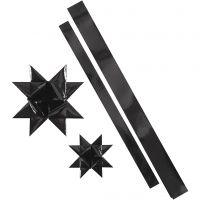 Paperisuikaleet, Pit. 86+100 cm, halk. 11,5+18,5 cm, Lev: 25+40 mm, musta, 16 suikaleet/ 1 pkk