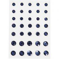 Akryylitimantit, pyöreä kartio, koko 6+8+10 mm, sininen, 35 kpl/ 1 pkk