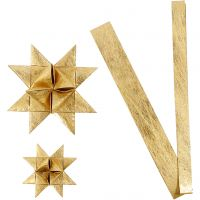 Paperitähtisuikaleet, Pit. 44+78 cm, halk. 6,5+11,5 cm, Lev: 15+25 mm, kulta, 32 suikaleet/ 1 pkk