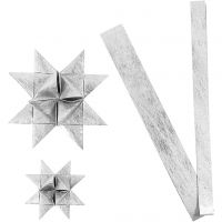 Paperitähtisuikaleet, Pit. 44+78 cm, halk. 6,5+11,5 cm, Lev: 15+25 mm, hopea, 32 suikaleet/ 1 pkk