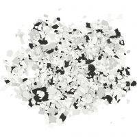 Terrazzo hiutaleet, musta, 90 g/ 1 tb