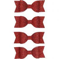 Paperirusetit, koko 31x85 mm, glitter punainen, 4 kpl/ 1 pkk