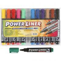 Power Liner, paksuus 1,5-3 mm, värilajitelma, 12 kpl/ 1 pkk