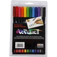 Le Plume II -tussit, vahvat värit, 12 kpl/ 1 pkk