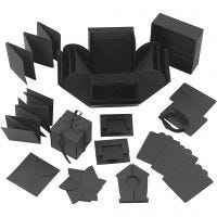 Yllätysrasia, koko 7x7x7,5+12x12x12 cm, musta, 1 kpl