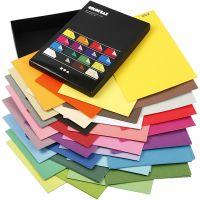 Color Bar-kartonki, A4, 210x297 mm, 250 g, värilajitelma, 16x10 ark/ 1 pkk