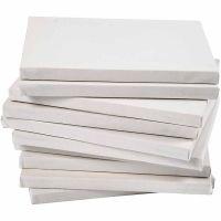Taulupohjat, syvyys 1,6 cm, A5, koko 14,8x21 cm, 280 g, valkoinen, 80 kpl/ 1 pkk