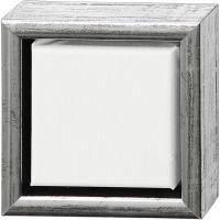 ArtistLine taulupohjat, syvyys 3 cm, koko 14x14 cm, antiikkihopean väris, valkoinen, 1 kpl
