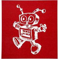 Painantasabloni, robotti, 20x22 cm, 1 ark