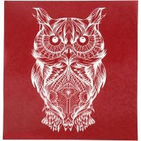 Painantasabloni, pöllö, 20x22 cm, 1 ark