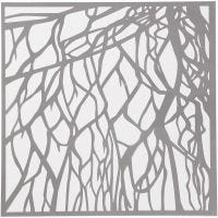 Sabloni, juuret, koko 30,5x30,5 cm, paksuus 0,31 mm, 1 ark
