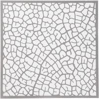 Sabloni, lehti, koko 30,5x30,5 cm, paksuus 0,31 mm, 1 ark
