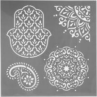 Sabloni, etninen, koko 30,5x30,5 cm, paksuus 0,31 mm, 1 ark