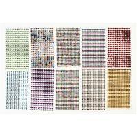 Tarra-akryylitimantit, halk. 4-6 mm, 16x9,5 cm, värilajitelma, 10 ark/ 1 pkk