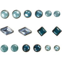 Koristeniitit, koko 8-18 mm, sininen, 16 kpl/ 1 pkk
