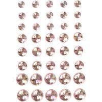 Akryylitimantit, koko 6+8+10 mm, pinkki, 40 kpl/ 1 pkk