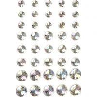 Akryylitimantit, koko 6+8+10 mm, kristalli/kirkas, 40 kpl/ 1 pkk