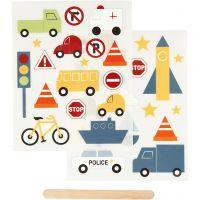 Siirtotarra, Liikenne, 12,2x15,3 cm, 1 pkk