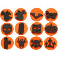 Softisleimasimet, halloween, halk. 7,5 cm, paksuus 2,5 cm, 6 kpl/ 1 pkk