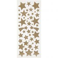Kimalletarrat, tähdet, 10x24 cm, kulta, 2 ark/ 1 pkk