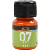 A-Color Lasimaali, oranssi, 30 ml/ 1 pll