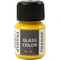 Glass Color Transparent lasimaali, sitruunankelt, 30 ml/ 1 pll